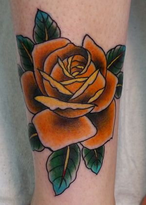 Virginia Elwood Tattoo Traditional Rose Tattoos Yellow Rose Tattoos Tattoos