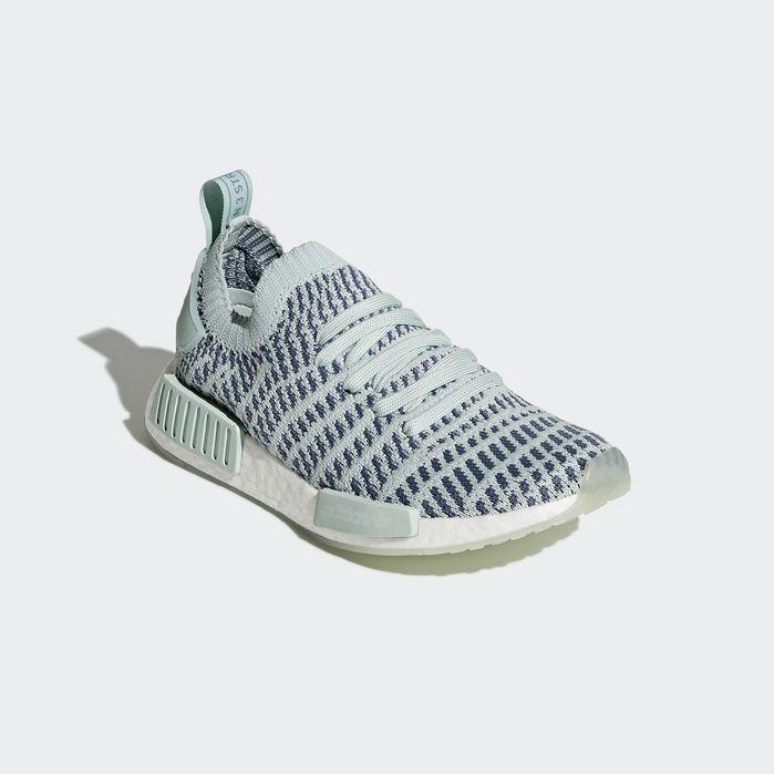 80d19ff8c329a NMD R1 STLT Primeknit Shoes Green 10.5 Womens