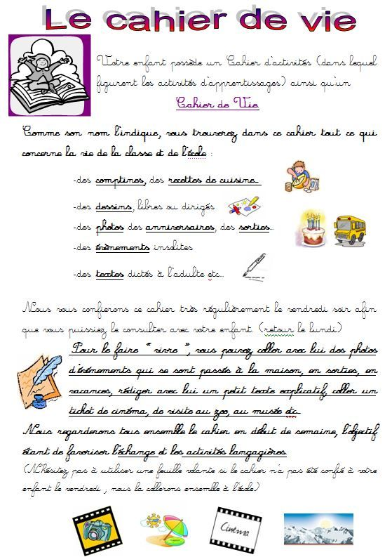 Cahiers Pages De Garde Objectif Maternelle Cahier De Vie Cahier De Vie Maternelle Objectifs Maternelle