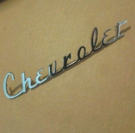 1941 1942 1946 1947 1948 Chevy Chevrolet Trunk Script Emblem