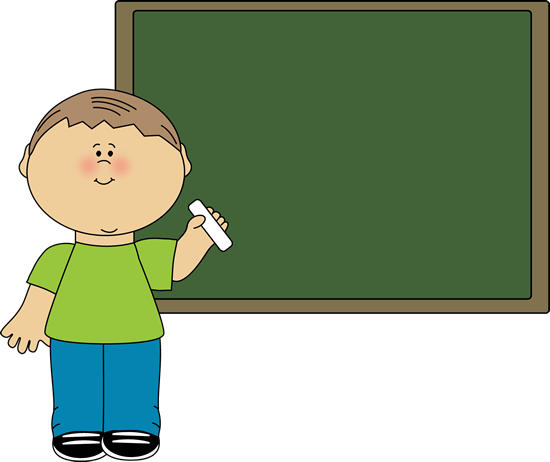 Boy Pointing to Chalkboard Clip Art - Boy Pointing to ...