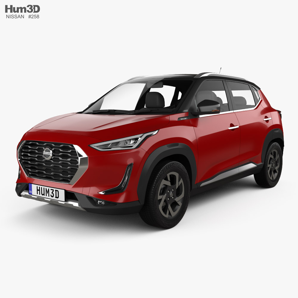 3d Model Of Nissan Magnite 2021 In 2021 3d Model Nissan Model