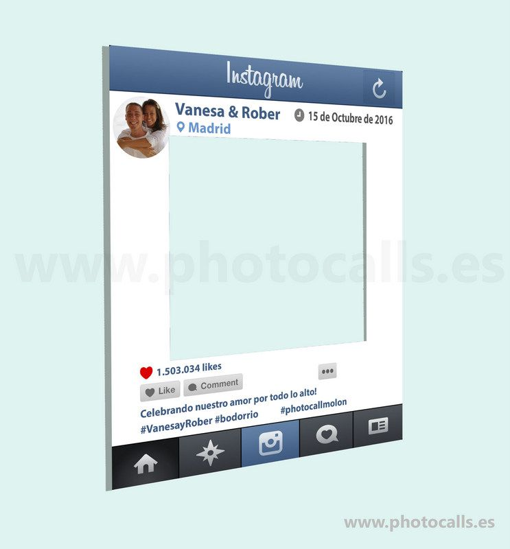 Marco Instagram, Personalizable 100% para ti