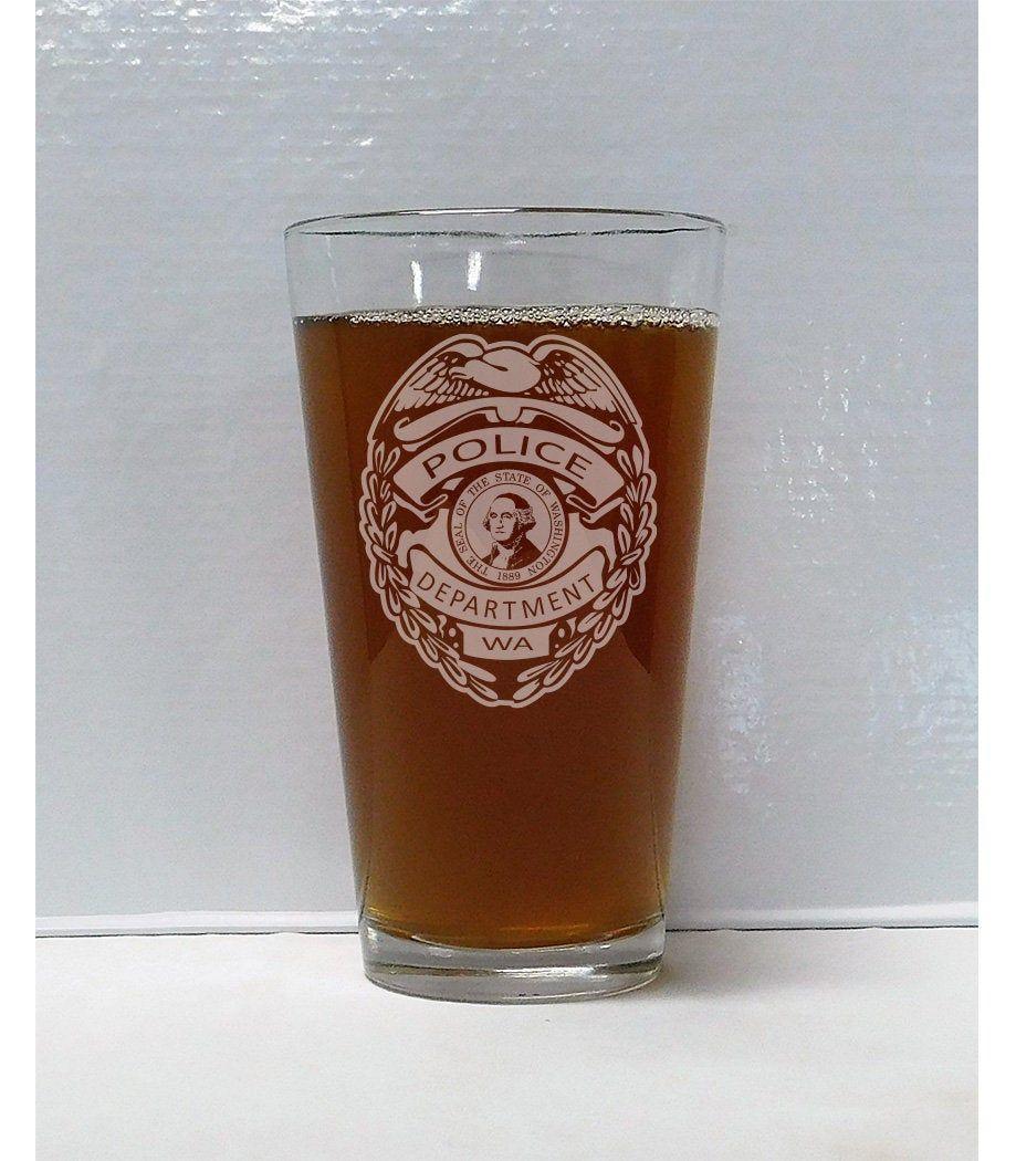 Police Officer Beer Glass Police Gift Officer Gift Etsy