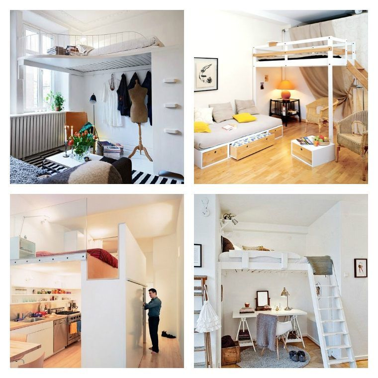 Studio : nos 30 idées de rangements bien pensés | Lit mezzanine ...