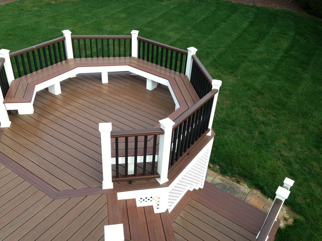 Attach Handrail To Existing Deck Wood Deck With Roof Plans What Is The Disadvantage Of A Composite Deck Deck Wpc Decking Roof Plan