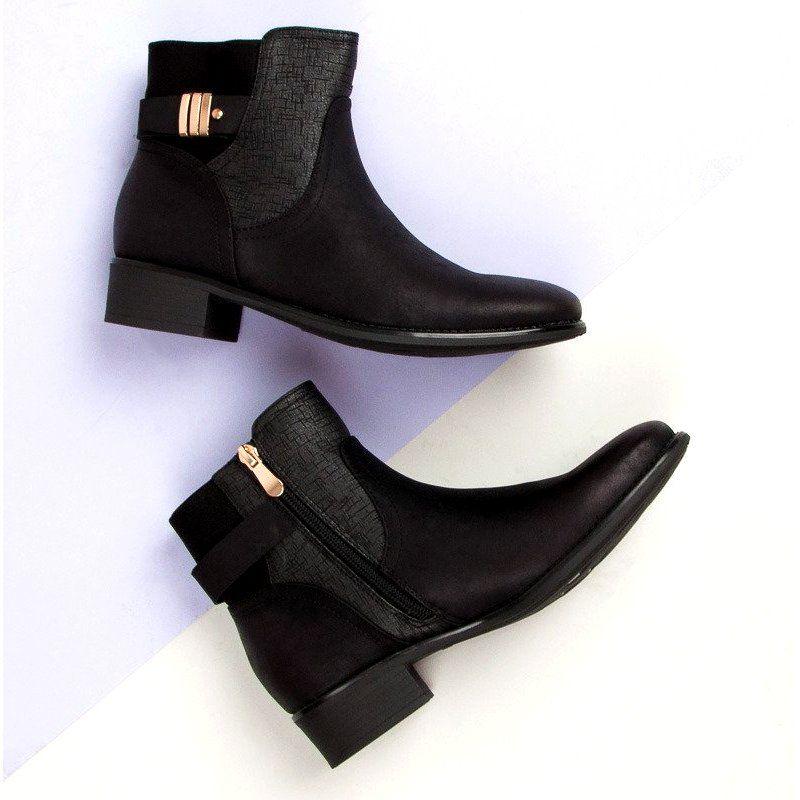 Vinceza Damskie Jesienne Botki Czarne Chelsea Boots Shoes Boots