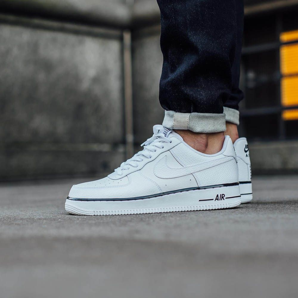Nike Air Force 1 Faible Blanc / Bleu-gris Courant Combiner excellent populaire cKLmlgL