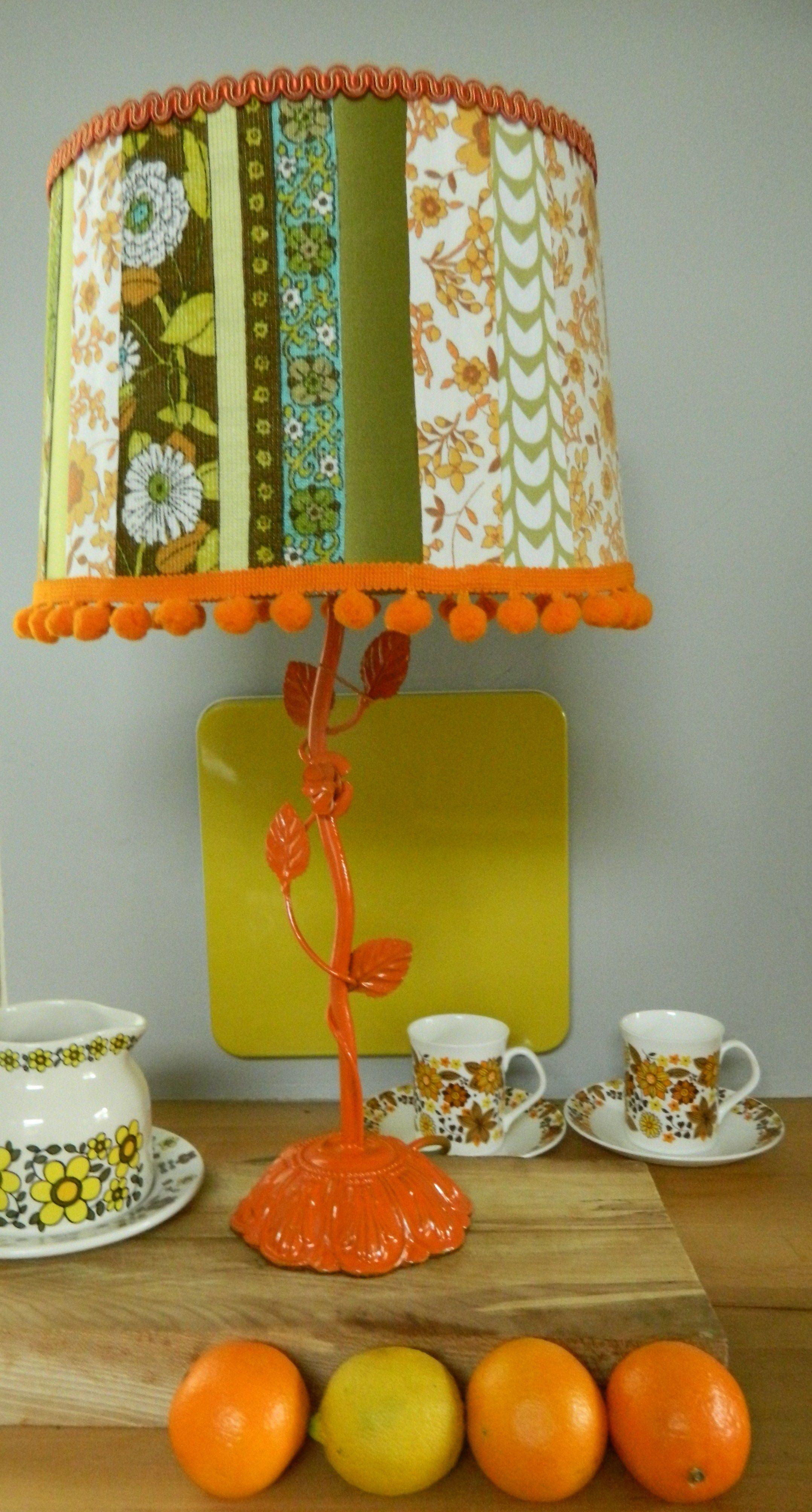 Patchwork Vintage Fabric Lamp By Clarabella Christie Www Clarabellachr