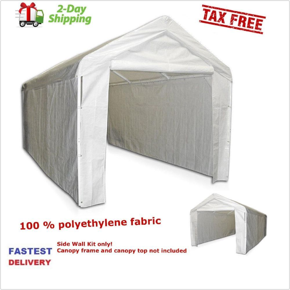 Caravan Canopy 10 X 20 Feet Domain Carport Garage Tent Car Port Shelter New Made Of 100 X25 Polyethylene Fabric And Offering M Canopy Carport Garage Carport