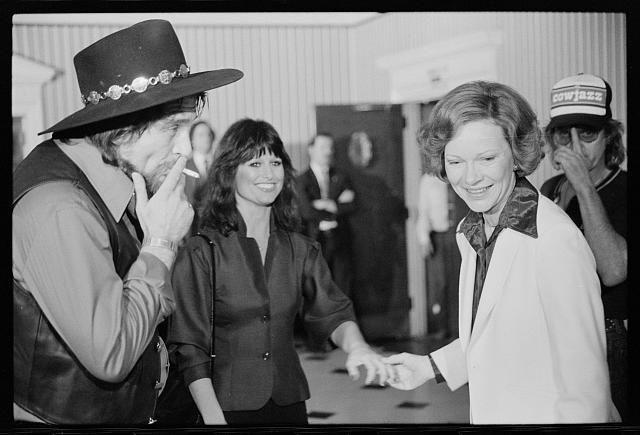 d96714644e350 First Lady Rosalynn Carter with Waylon Jennings