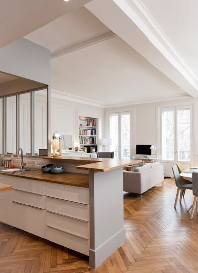 Un appartement traversant marion lano architecte d for Architecte interieur cuisine ouverte