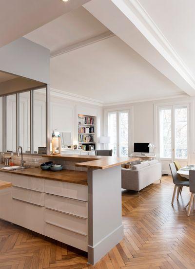 Un appartement traversant design d 39 int rieur d coration for Appartement design 100m2