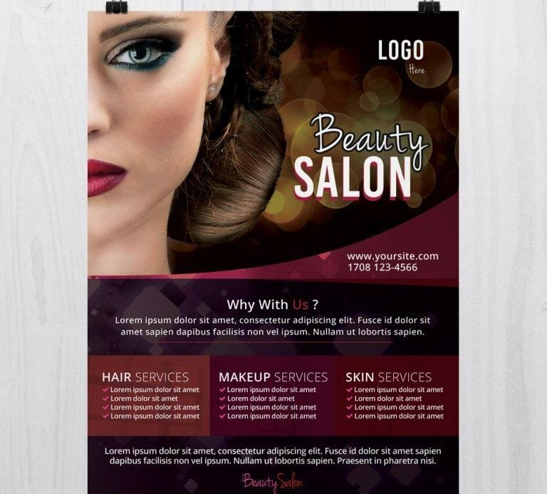 Hair Psd Free Download: Free PSD Flyer Template (With Images