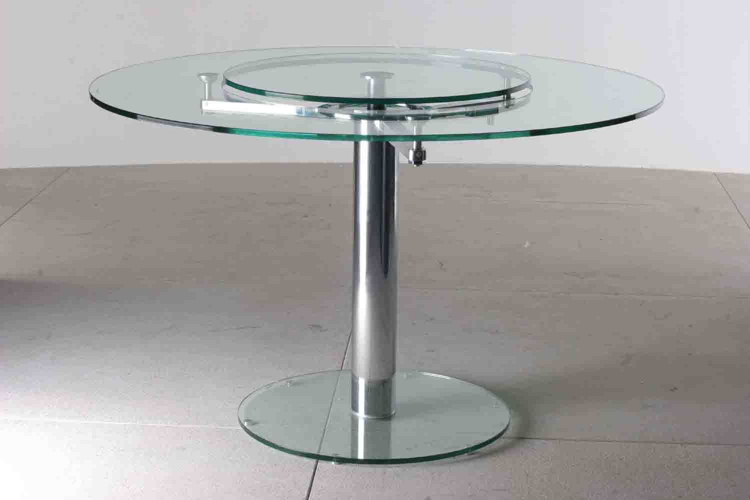 Round Gl Dining Table With Lazy Susan Design Ideas