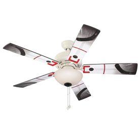 Harbor Breeze Slapshot 48 In White Downrod Or Close Mount Indoor Ceili Ceiling Fan Ceiling Fan With Light Fan Light