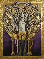 Art Nouveau Tree : nouveau, MUSE:, Nouveau, Paradise, Favorites, Fridays, Illustration, Girl,, Interesting