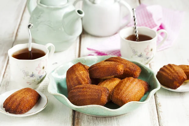 Madeleines with Lavender Honey