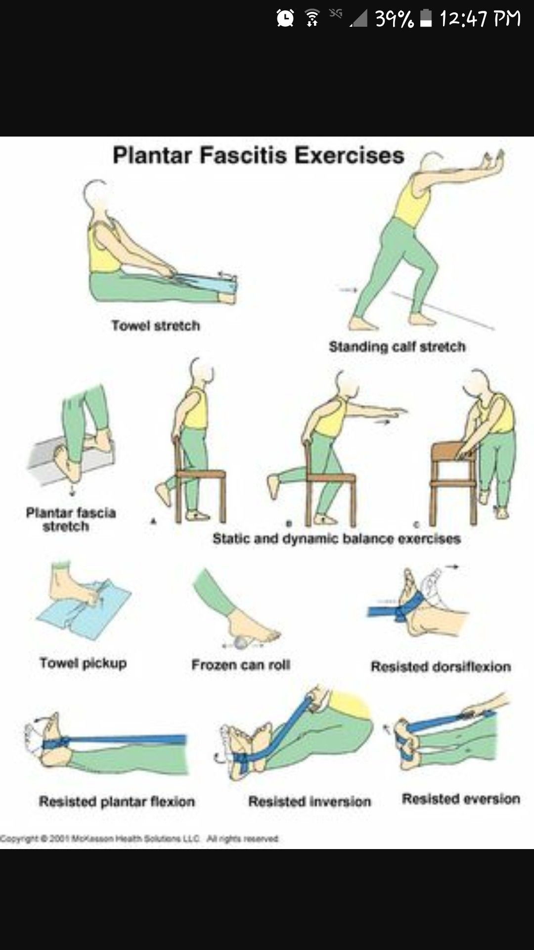 photo regarding Plantar Fasciitis Exercises Printable referred to as Pin as a result of Arlette Hensler upon Get the job done Out Plantar fasciitis