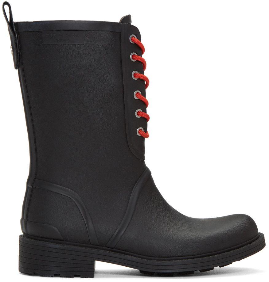 RAG & BONE Black Ansel Rain Boots. #ragbone #shoes #boots