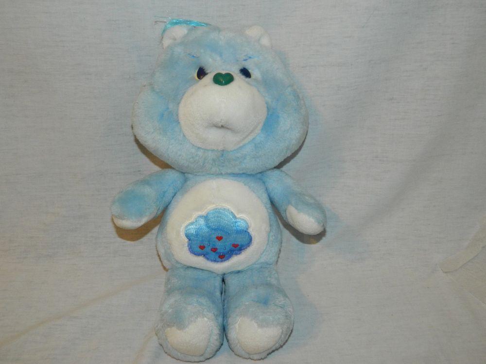 "Vintage 1983 Care Bear 13/"" Plush Grumpy Bear by Kenner"