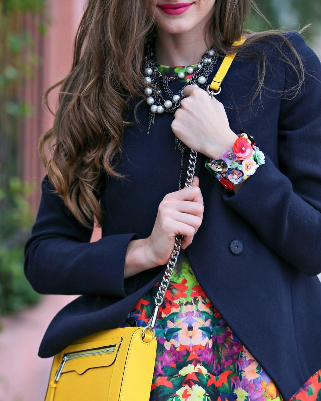 """Kyleigh McCollam on Instagram: """"Don't miss today's post, as I reveal my 8 secrets on how mix & match colors to perfection.❤️ (link in bio) @kaunishetki photo #fashion #style #blogger #spring #color #floral #print @rebeccaminkoff"""""""
