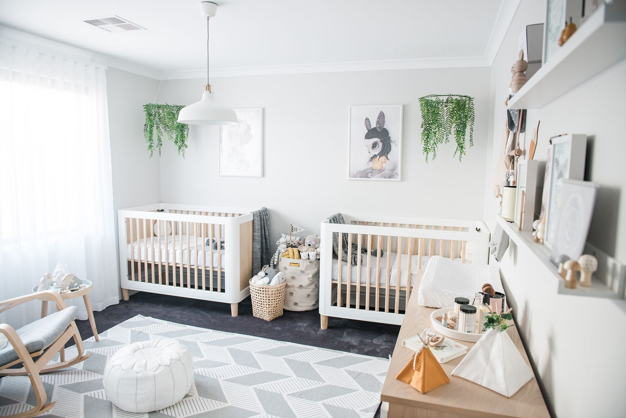 In the Nursery with NashStyling Twin baby rooms, Nursery