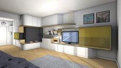 La Maison France 5 - Créer un bureau/console tv entre une entrée ...