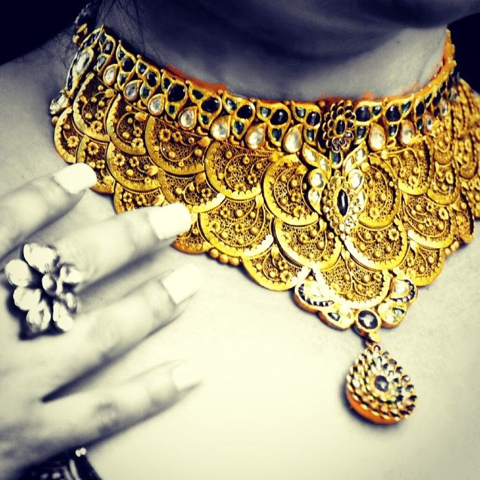 beautiful Gold choker by Waman Hari Pethe jewlers | Love Gold ...