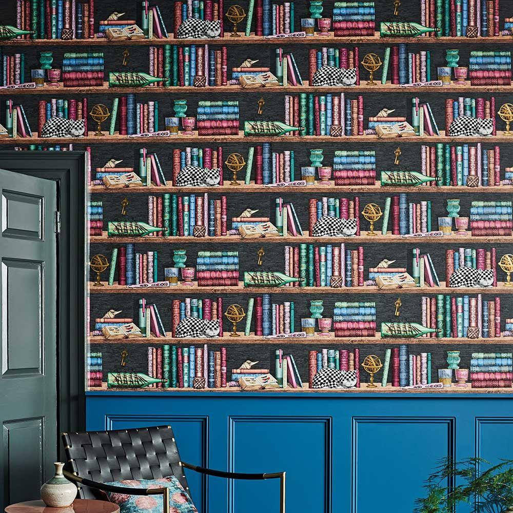 Libreria By Cole Son Multi Coloured Wallpaper 114 13025 In