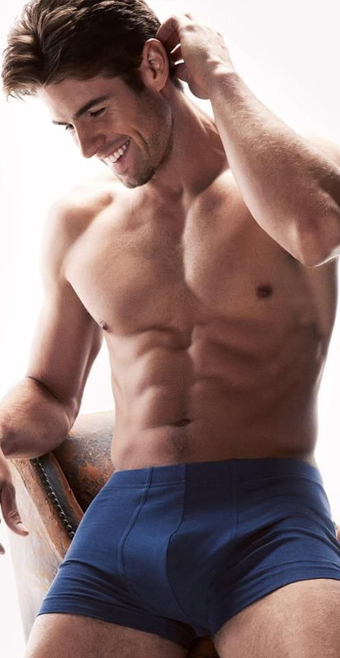 Flat naked male abs