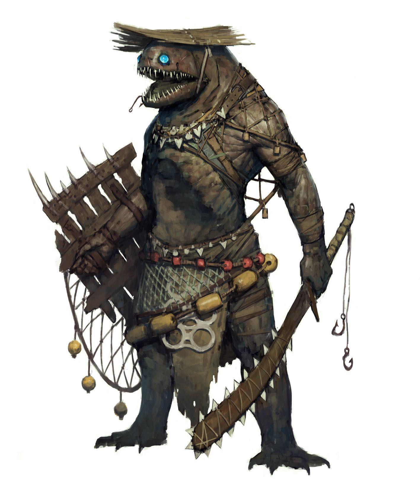 ArtStation - Fish Warrior, Ariel Perez