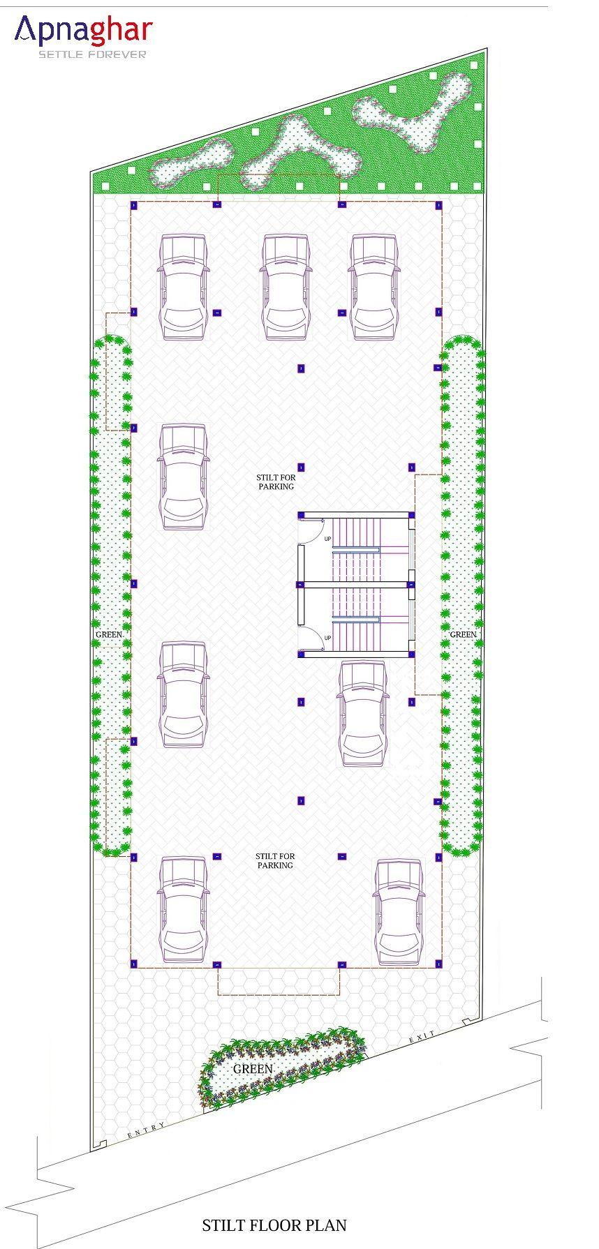 Stilt Floor Plan Designed By Apnaghar Team For More Details Visit Www Apnaghar Co In Floor Plan Design Plumbing Drawing Architectural Services