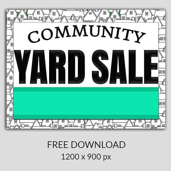Free Garage Sale Images Yard Sale Clip Art Community Garage Sale Yard Sale Garage Sale Advertising