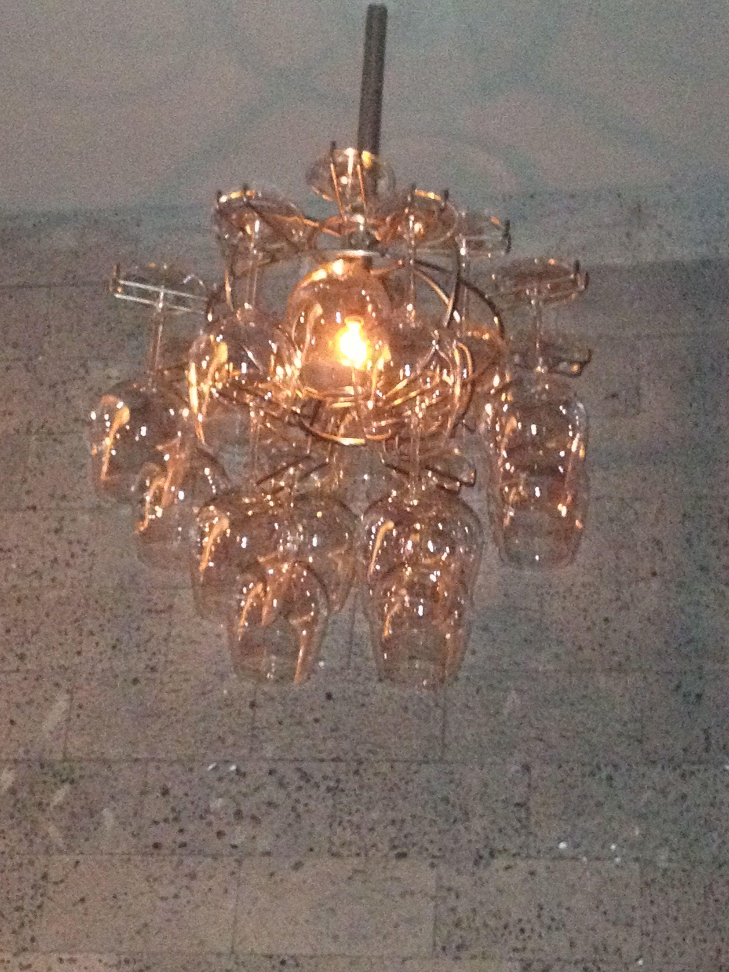 Wine glass chandelier Ho Chi Minh Vietnam Vintage