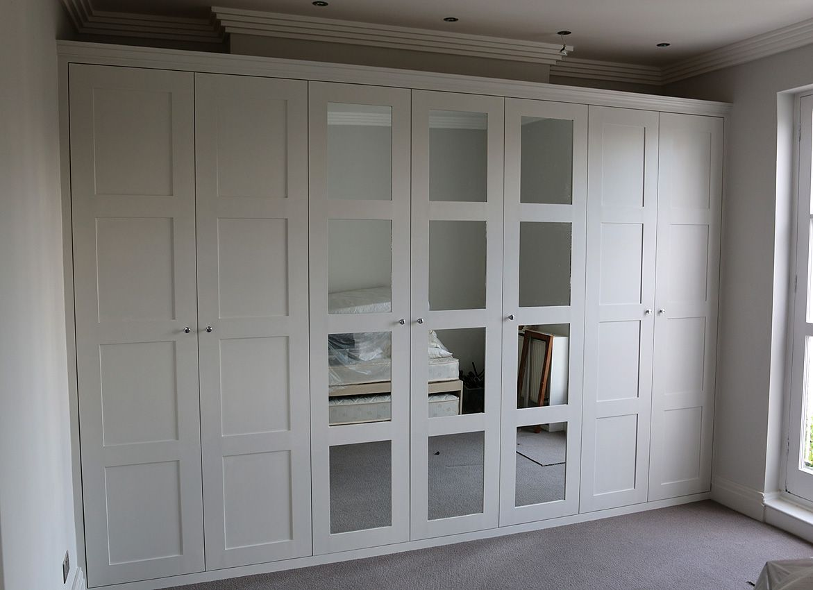 Fitted wardrobe with shaker mirror doors closets pinterest fitted wardrobe with shaker mirror doors eventelaan Gallery