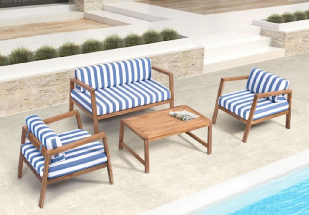 Teak Outdoor Furniture Nautical Themed Furniture Elegant Outdoor Sofa Teak Outdoor Furniture Outdoor Sofa Sets Outdoor Furniture