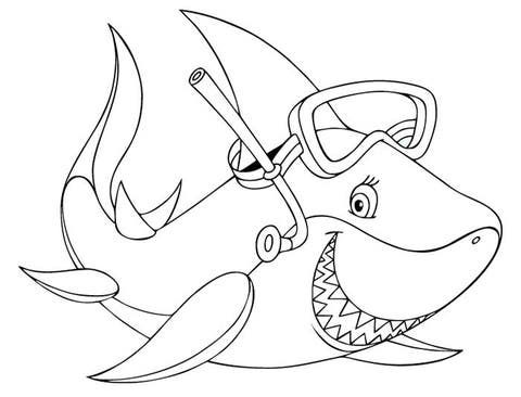 70 animal colouring pages free download  print  shark