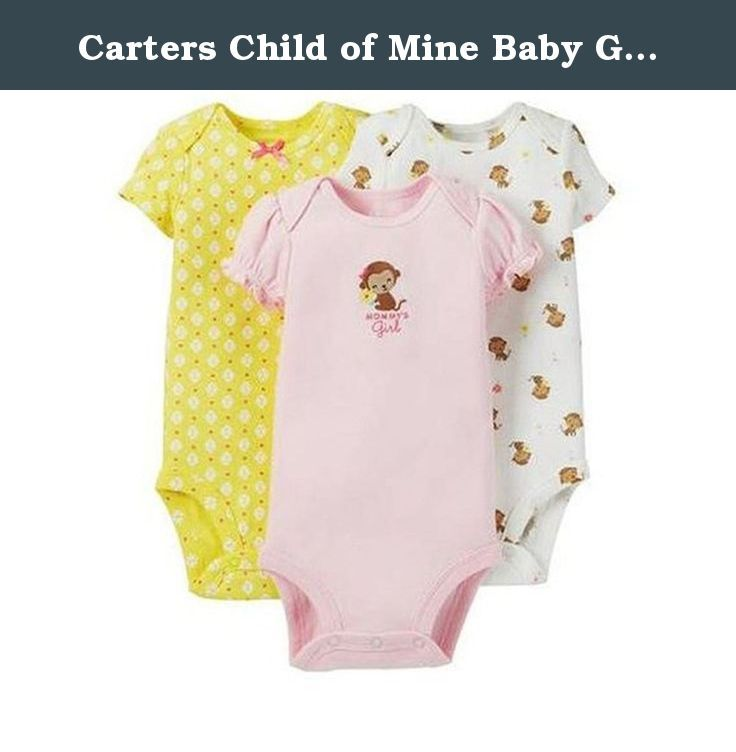 c19dbbbc1 Carters Child of Mine Baby Girl 3 Piece Bodysuit Mommys Girl (6-12M).  Carters Preemie Baby Girl Bodysuits. These bodysuits are cotton and have a  snap bottom ...