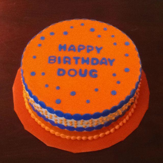 Orange And Blue Birthday Cake Blue Birthday Cakes Blue Birthday