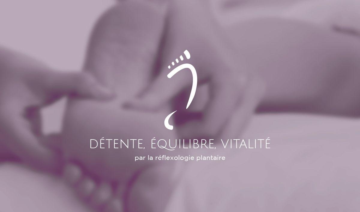 Identité visuelle pour un cabinet de réflexologie plantaire #visualidentity #reflexologie