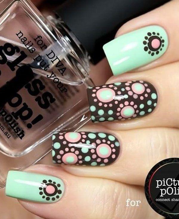 30 Adorable Polka Dots Nail Designs Nail Art Pinterest Nail