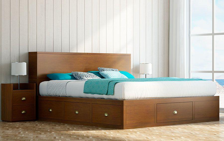 Muebles cama con cajones chianti - Cabeceros de cama rusticos ...