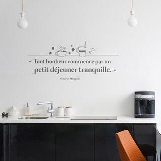 Sticker citation bonheur citation sur le bonheur for Autocollant mural texte