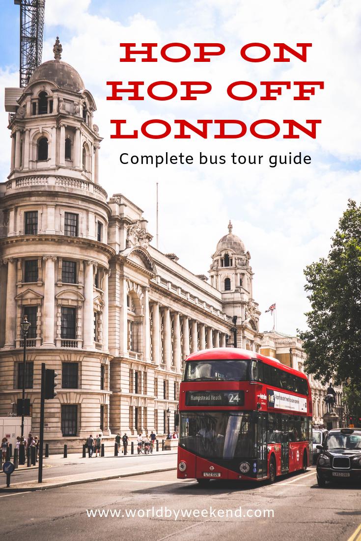 Complete guide to hop on hop off bus tours in London. #london #bigbustours #bustour #visitlondon #travellondon #londontourist #londonbustours #towerbridge #toweroflondon #harrods #visituk #uk #westminster #westminsterabbey #daytrip #londononabudget #travelwithbaby #familytravel #travelingfamily #buckingham #buckinghampalace #royal #beefeater #thamesriver #thamesrivercruise