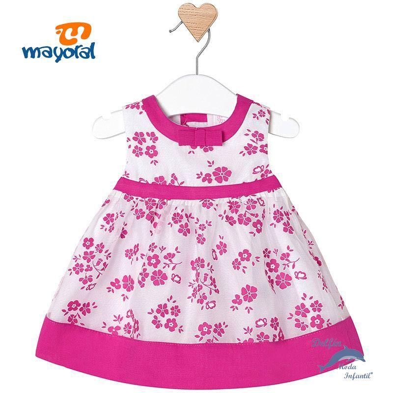 9c1a4a640 Vestido de bebe MAYORAL newborn voile estampado flores