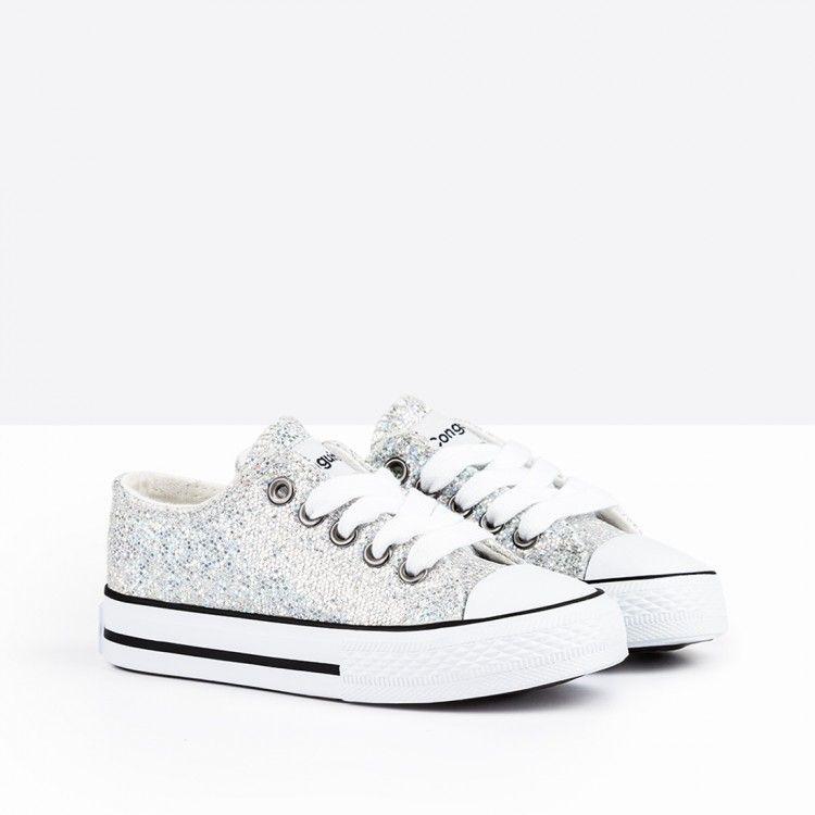 f215fd02ac06 Zapatillas de Niña Glitter Plata - Calzado - Niña - Conguitos  conguitos   niña  shoes  collection  ss18  zapatillas  glitter  plata
