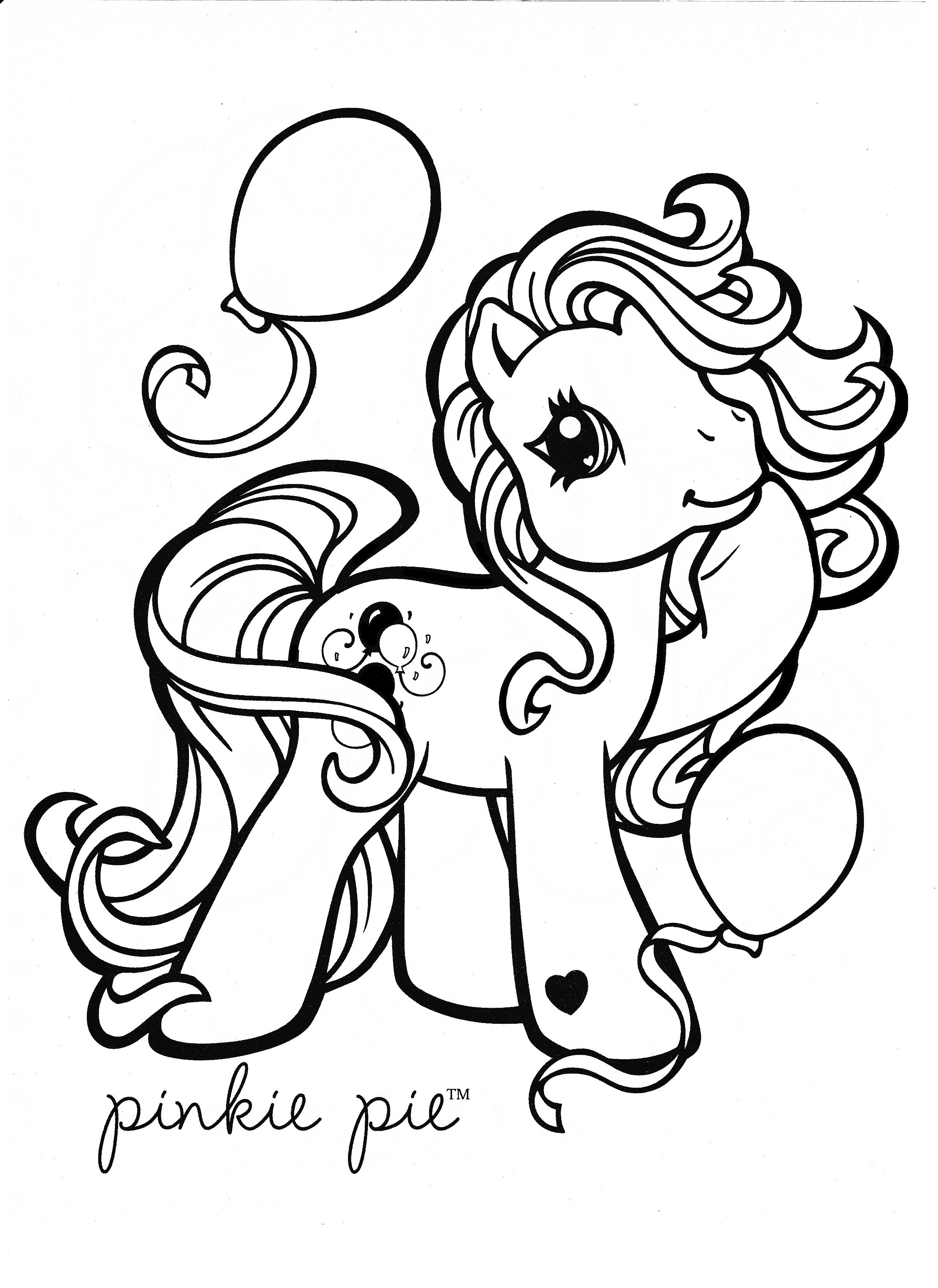 My Little Pony Coloring Page Mlp Pinkie Pie Horse Coloring Pages My Little Pony Coloring Coloring Pages