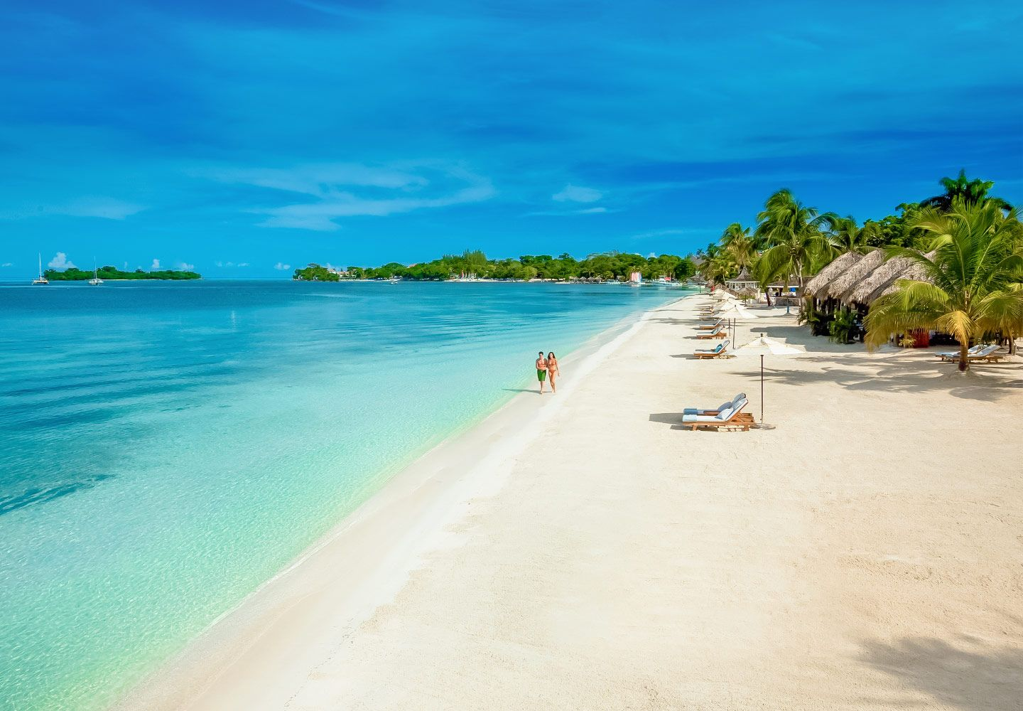 Sandals Negril Is Located On The Best Stretch Of S Famed Seven Mile Beach Jamaica All Inclusive Destination Wedding Honeymoon
