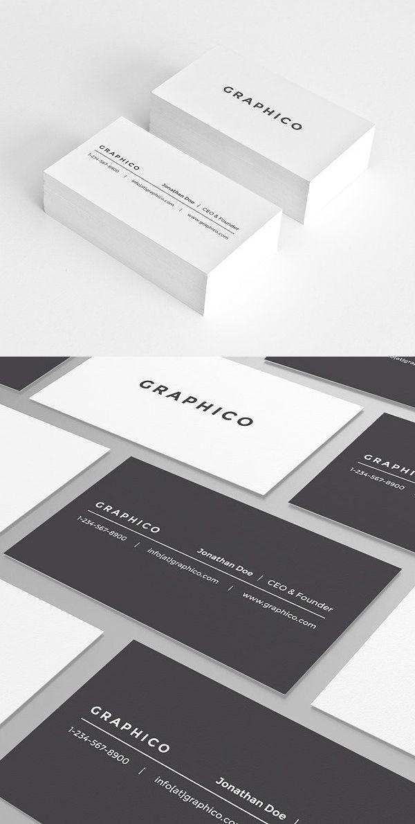 Simple And Clean Business Card Templates 23 Print Design Dengan